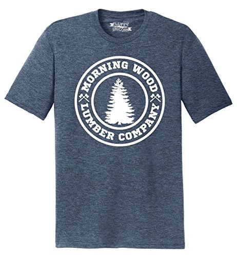 Mens Tri-Blend Tee Morning Wood Lumber Company Navy Frost XL