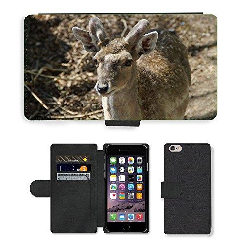 "Just Phone Cases PU Leather Flip Custodia Protettiva Case Cover per // M00128739 Daim Animal mâle Animal World // Apple iPhone 6 PLUS 5.5"""