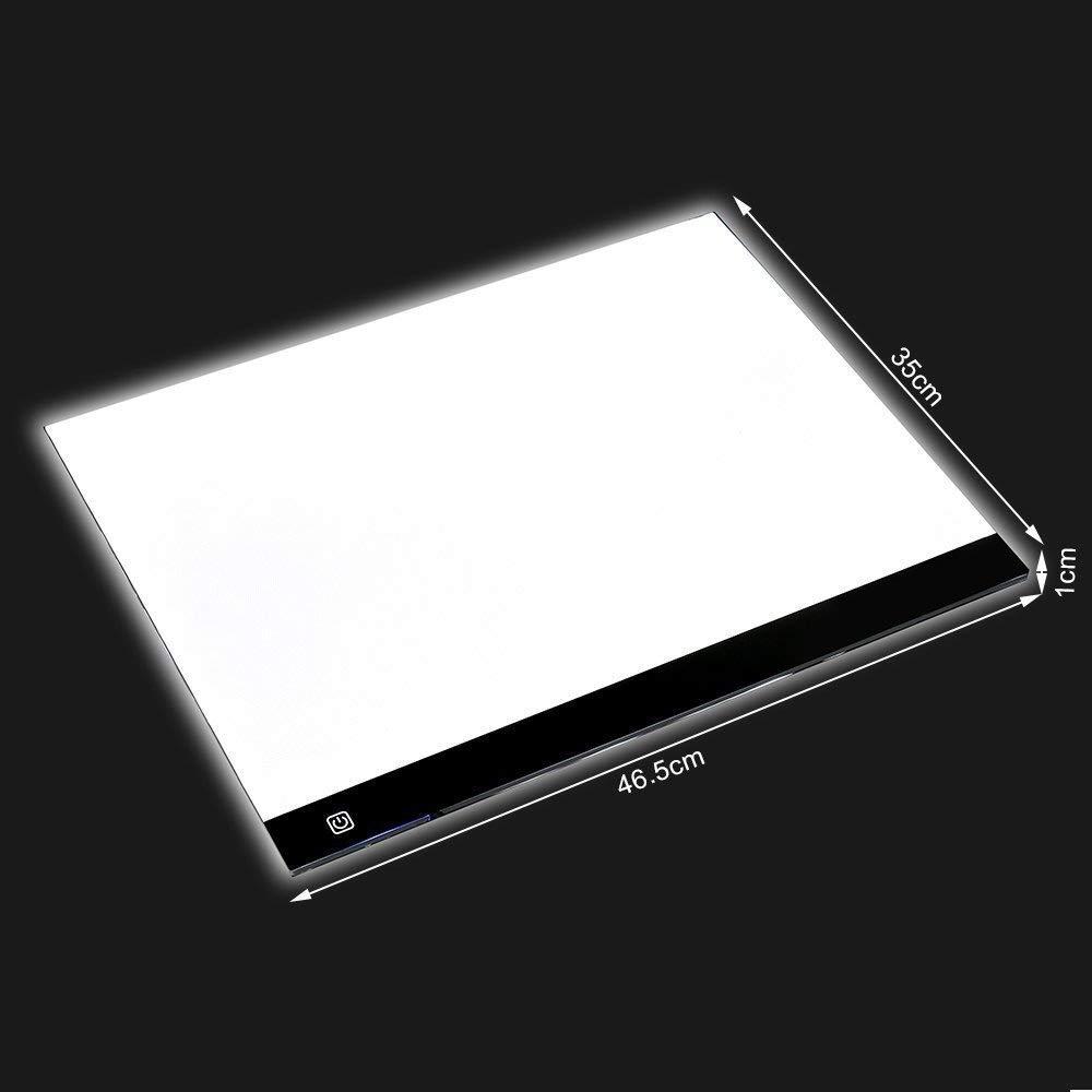 Sumeber LED copia Board, m. way A3/A4super sottile LED disegno copia Tracing Light box Track Light con luminosità regolabile Tattoo sketch Architecture calligrafia artigianato per artisti, disegni, schizzi, A3 LBOX-D-A3