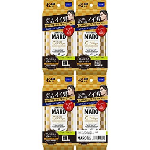 [데오드란트] MARO 마로 DX 프리미엄 페이스씨트 GOLD 젠틀 민트 의 향기 (페이스시트42매×4 + 보디시트 30매×4)