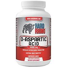 Hard Rhino D-Aspartic Acid (DAA) Capsules, 3000mg, 240 Vegetarian Capsules