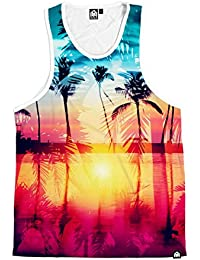 Coastal Dreams Collection Men's All Over Print Casual Tank Top Shirts