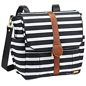 preschool bag and baby shower gift clutch for babies on a stripes grey and ecr\u00f9 cotton with a tiny animal Diaper bag best designer bag
