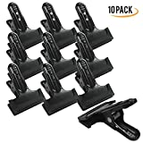 PARTYSAVING 10 pcs 4.3 Inch Spring Metal Clamps Heavy Duty Premium Clips (2-inch jaw opening, 3-inch wide pad) APL1322