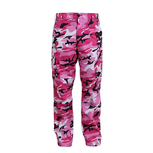Mens Medium Pants Camo - Rothco Color Camo Tactical BDU Pant, Pink Camo, M