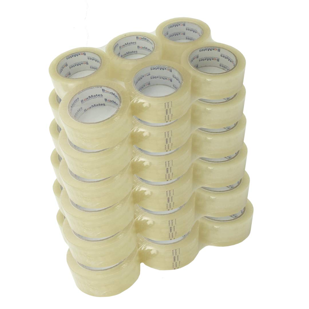 BoxMates Premium Packing Tape 36 Roll (case)-2.7mil 2inch 60Yard per Roll, Sealing Adhesive Tape for Packing Moving Shipping