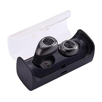 Ouneed Twins Bluetooth Headset, Mini TWS Gemelos inalámbricos Bluetooth 4,2 Auriculares estéreo en el oído Auriculares audífonos (Gris): Amazon.es: Deportes ...