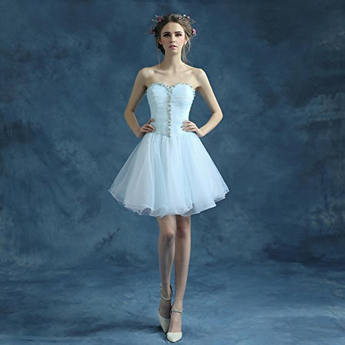 Homecoming Tulle Mini Dresses Prom 2016 Bridal Sweetheart Ivory Aurora q6TXtS