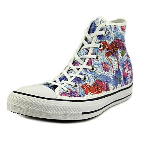 Converse, Donna, Chuck Taylor All Star Hi Tiny Crochet Print Flower, Tela, Sneakers Alte, Blu