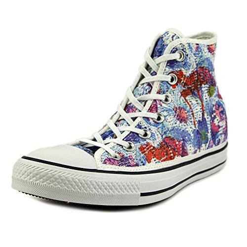 Converse Women's Chuck Taylor All-Star Canvas High (Size 7 B(M) US; Spray Paint (Flower Chucks)