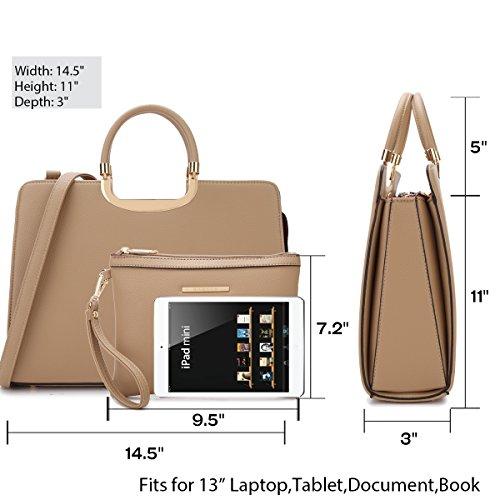 b091e1d96 Amazon.com  MMK Collection Fashion Women Briefcase Vegan Leather ...
