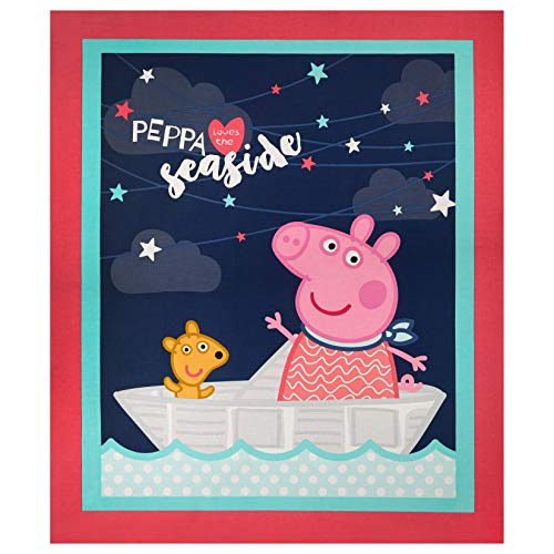 Springs Creative Products Peppa Pig Peppa The Seaside 36'' Panel Fabric, Multicolor