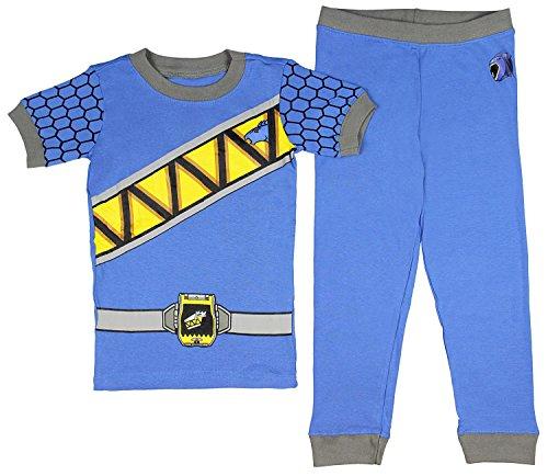 Intimo Saban's Power Rangers Dino Force Boys' Costume Pajama Set - Runs Small (4T, Blue)