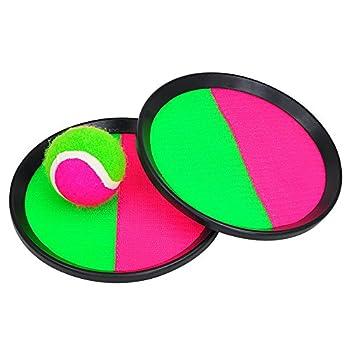 Pevor Paddle Tennis Toy Ball Toss & Catch Sports Ball Throw Catch Bat Ball Game Set 0