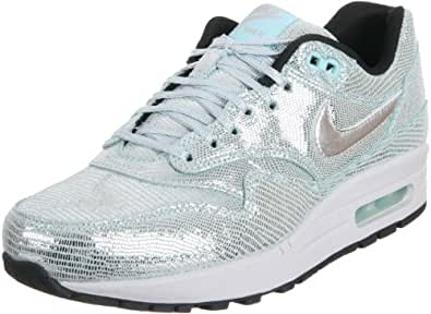 "Nike Air Max 1 ""Party Pack"" QS Women Sneakers Metallic Silver 633737-001"