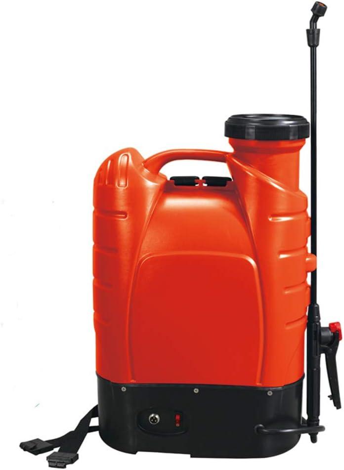 QNMM Mochila Pulverizador Eléctrico, 15L Ultra Alta Presión Pulverizador de Mochila/Rociador Eléctrico Anti-epidemia con Cuatro Boquillas de Césped de Jardín Granja, Naranja
