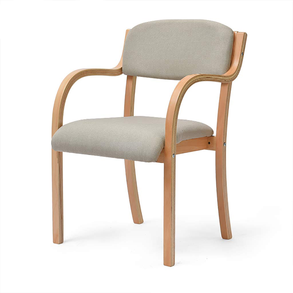 C Solid Wood Dining Chair Single Study Chair Office Home Desk Chair Computer Chair (color   D)