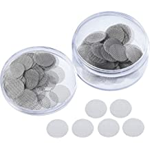 Mudder 150 Pieces Stainless Steel Screens Pipe Screens Smoking Pipe Screen Filters with Storage Box (3/ 4 Inch)