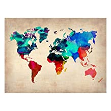 World Watercolor Map 1 Art Print By NaxArt - 30x41 cm