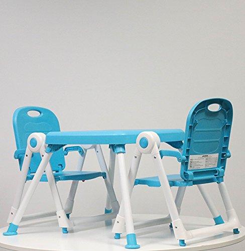 Zoe BEST FOLDABLE TODDLER TABLE & CHAIR SET FOR KIDS ART & PLAYTIME (Children Folding Chair Set)