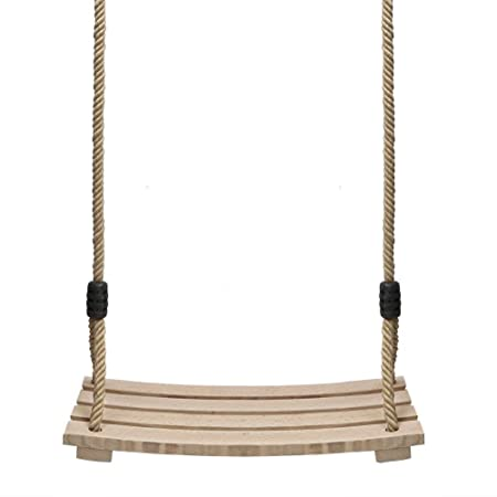 Holz Schaukel, Erwachsene Kinderschaukel gartenschaukel für Innen und Außenbereich schaukelgerüst mit Einstellbares Seil