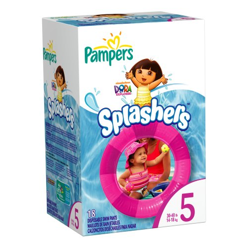 Pampers Splashers, Size 5, 18-Count, Health Care Stuffs