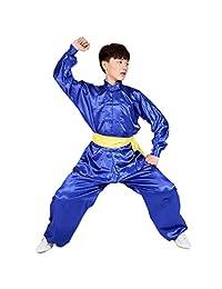 ZEVONDA Unisex Kung Fu Polyester Martial Arts Outfits Clothing Tai Chi Uniforms