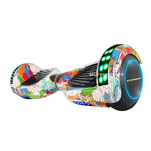 "Hoverboard Two-Wheel Self Balancing Electric Scooter 6.5"" UL 2272 Certified, Print Coating with Bluetooth Speaker and LED Light (Super Hero)"