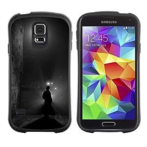 Paccase / Suave TPU GEL Caso Carcasa de Protección Funda para - Street Black Man Holmes Mystery - Samsung Galaxy S5 SM-G900