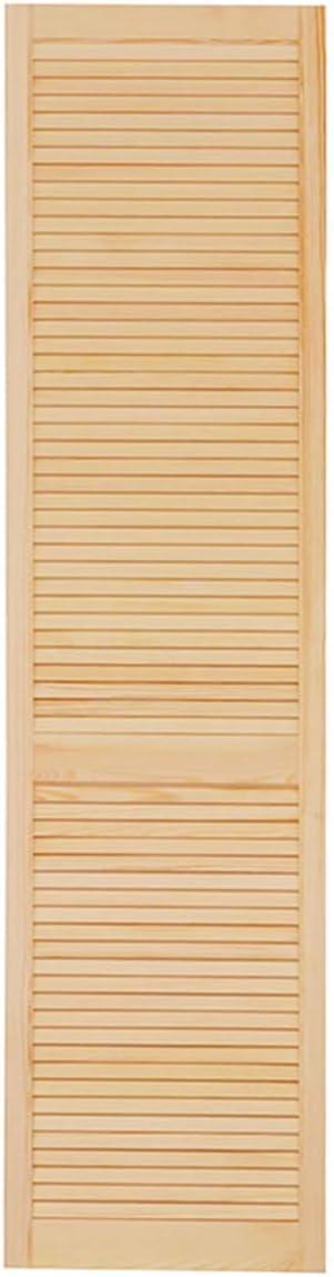 Schr/änke M/öbel Lamellent/ür Holzt/ür natur 61,5 x 59,4 cm mit offenen Lamellen f/ür Regale Vierer Paket 4-er Pack Kiefer Holz unbehandelt