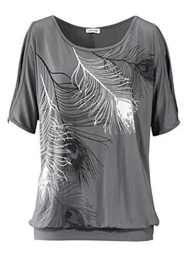 Relipop Women's Fashion Off Shoulder Tops Short Sleeve Blouse Casual T-Shirt