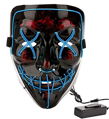 LED Halloween Mask Halloween Scary Cosplay Light up Mask for Festival Cosplay Halloween Costume