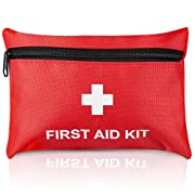 Small First aid kit, Tenquan 100pcs Mini First Aid Kits Compact, Lightweight Basic Supplies for Emergencies at Home…