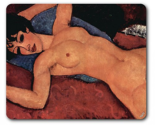 Amedeo Modigliani Mouse Pad - Reclining Nude, 1917 (9 x 7 inches)