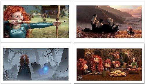 Disney Pixar BRAVE set of 4 Lithograph Prints in Folder - Disney Store Exclusive