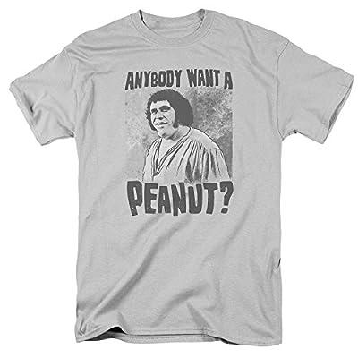 Princess Bride Movie Giant Snack Anybody Want a Peanut Men's T-Shirt Silver Grey