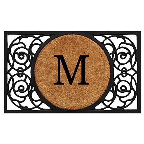 Calloway Mills 180031830M Armada Circle Monogram Doormat, 18 x 30 Letter M