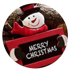 alfombrilla de ratón Feliz Navidad - ronda - 20cm