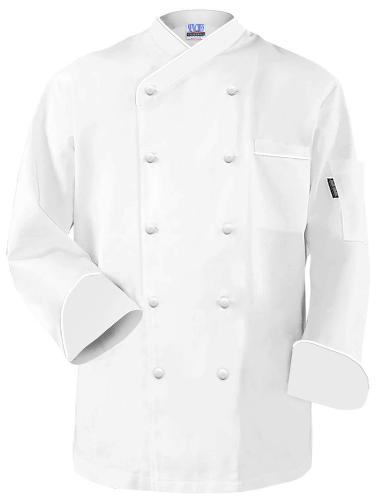 Newchef Fashion Frenchy Chef Coat White White Trim 2XL White