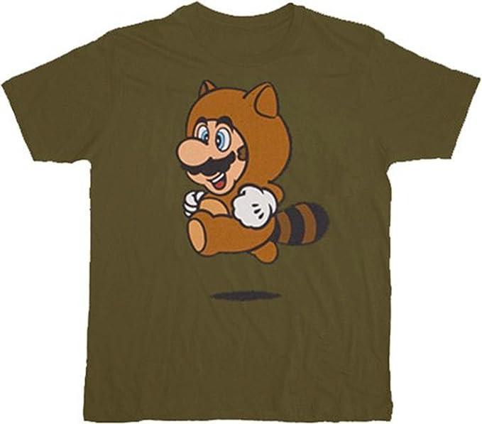 Nintendo Super Mario Tanooki Suit Green T,Shirt tee