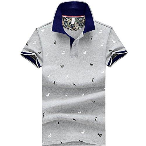 言うまでもなく天才打倒[ SmaidsxSmile(スマイズ スマイル) ] ポロシャツ トップス 半袖 柄 ボタン 襟付 カジュアル ゴルフウェア メンズ