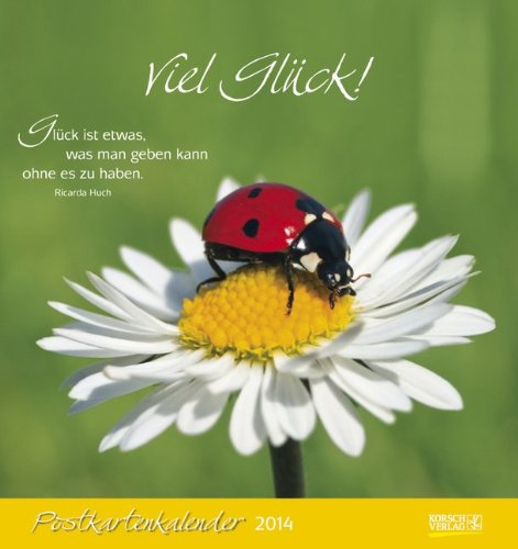 Viel Glück! 2014 Postkartenkalender