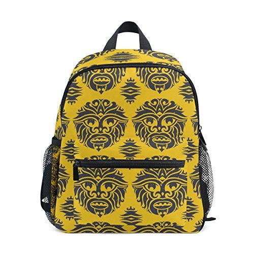 LORVIES Tribal Monkey Mask Mini Kids Backpack Pre-School Kindergarten Toddler Bag
