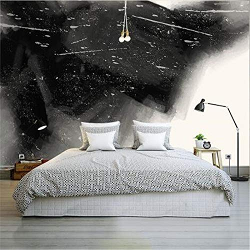 Yonthy 3D Mural Wall Sticker Wallpaper Living Room Bedroom Decoration Art Custom Roll Minimalist Ink Home Decor Black and White 350Cmx250Cm