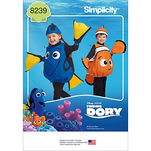Simplicity Patterns 8239 Disney Finding Dory Costumes for -