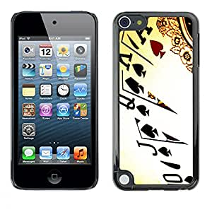 Slim Protector Shell Hard Case Cover for Apple iPod Touch 5 Cards Poker Ace King Queen Game Play Art / STRONG