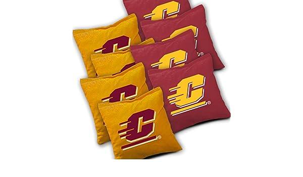 CENTRAL MICHIGAN CHIPPEWAS Cornhole Bags SET of 8 ACA REGULATION Baggo Bean Bags