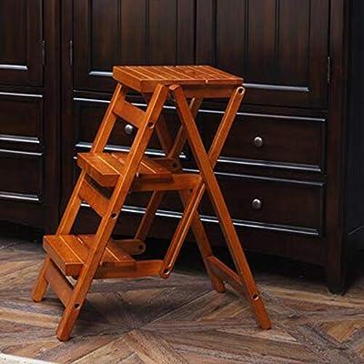 VYC Sillas modernos muebles de madera plegable Escalera Paso 3 taburete plegable de cocina Escalera compacto Anti Slip 2 colores,color miel: Amazon.es: Bricolaje y herramientas