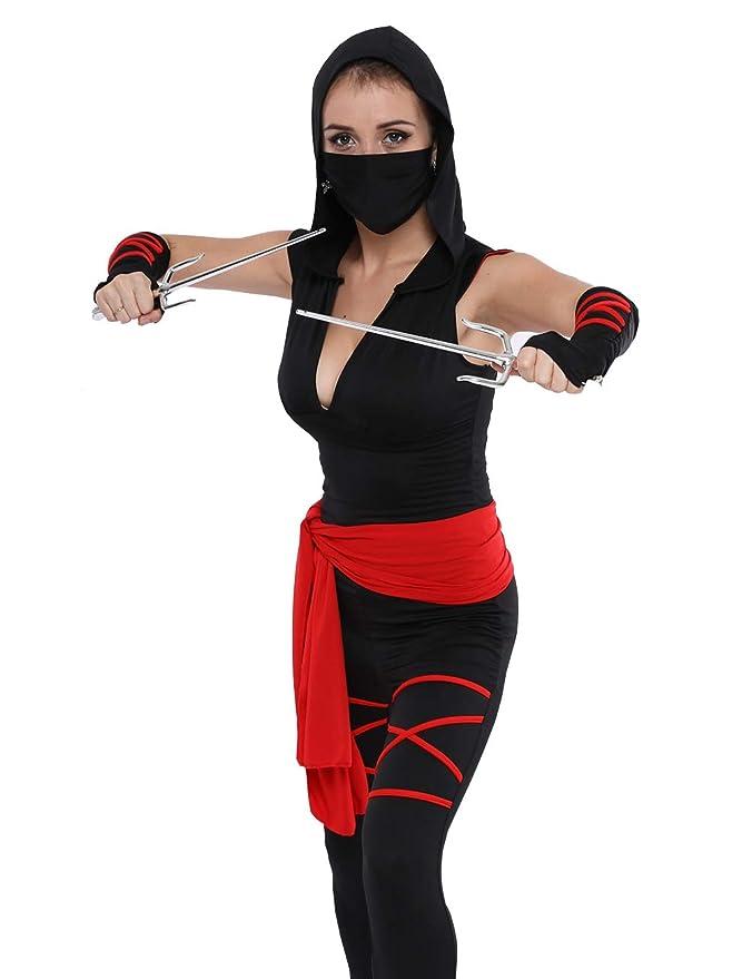 Amazon.com: Colorful House - Disfraz de ninja para mujer, 5 ...