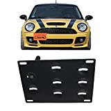tow hook adapter - JGR No drill Tow Eye Front Bumper Tow Hook License Plate Mount Bracket Holder Adapter Relocation Kit For MINI Cooper R50 R52 R53 R55 R56 R57 R58 R59 2002-2014